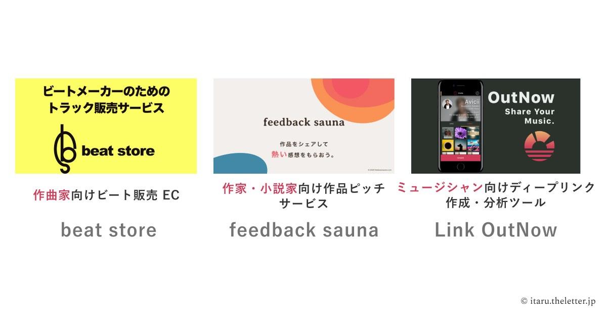 これまでローンチしてきたサービス - itaru.theletter.jp