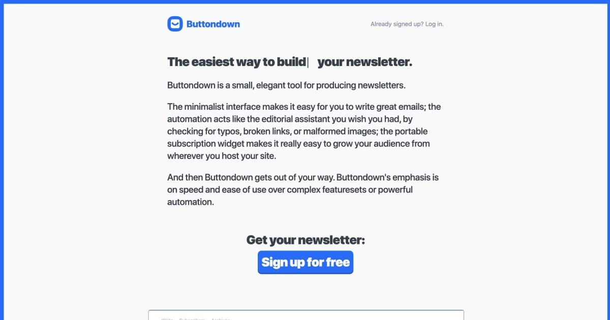 buttondown.email