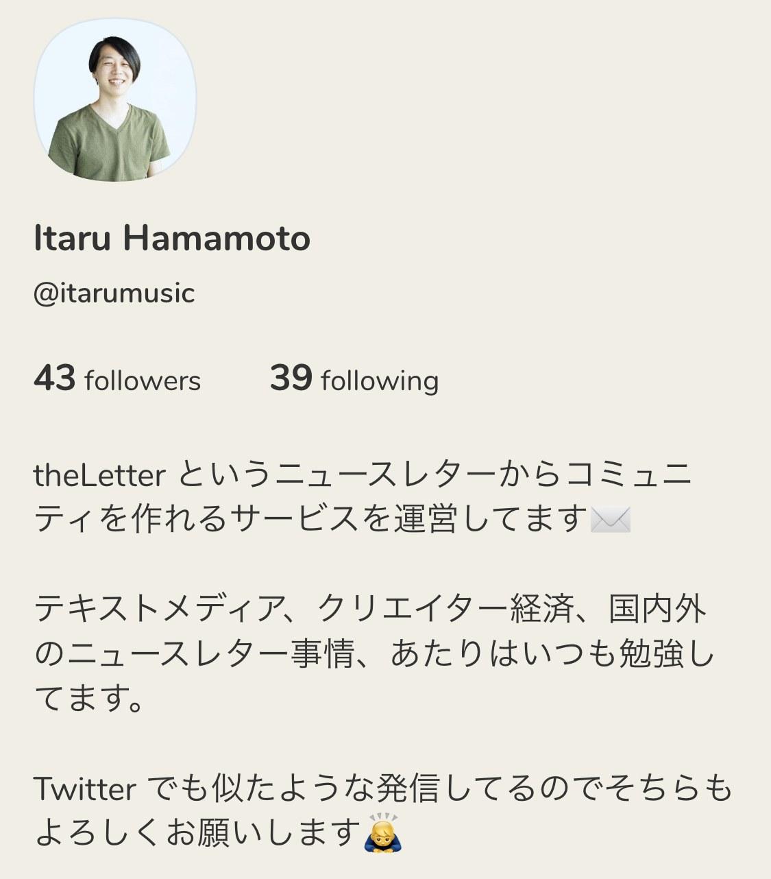 Clubhouse - Itaru Hamamoto