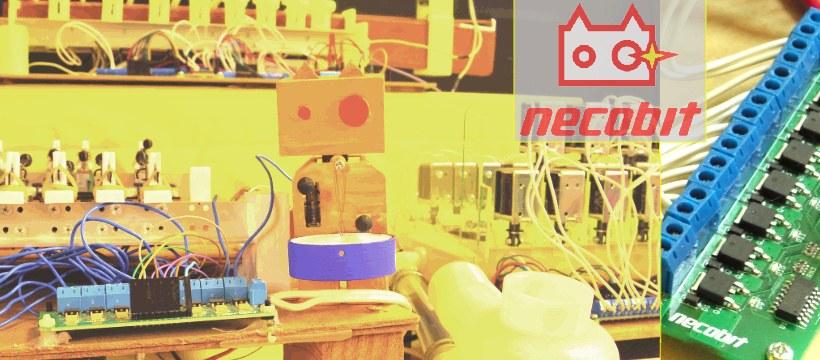necobit 自動演奏楽器とMIDIメカニカルシステム基板