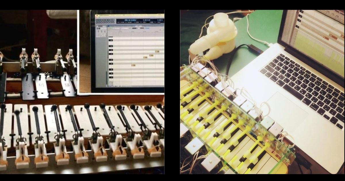 necobit の MIDI自動演奏グロッケン・MIDI自動演奏鍵盤ハーモニカ&MIDI制御送風ファン