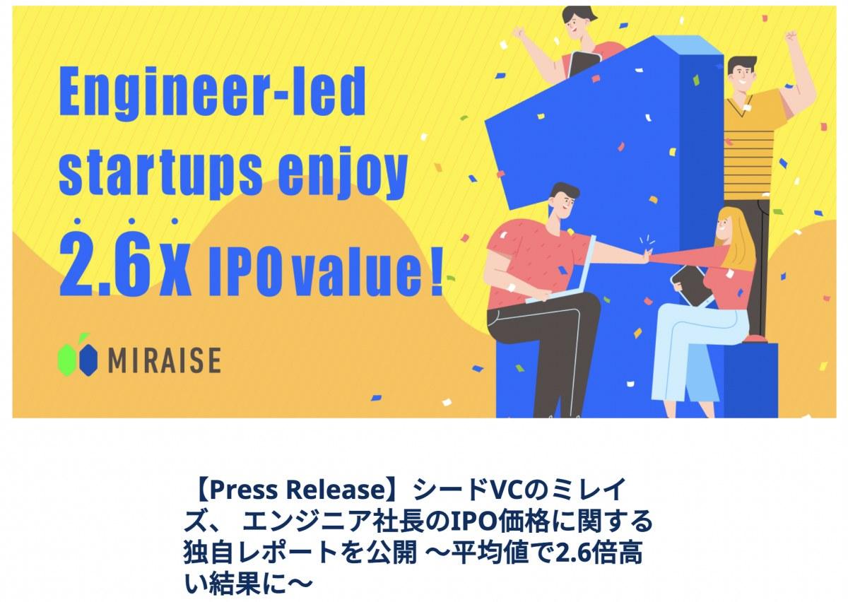 出典:https://www.miraise.vc/news/press-ipovalue