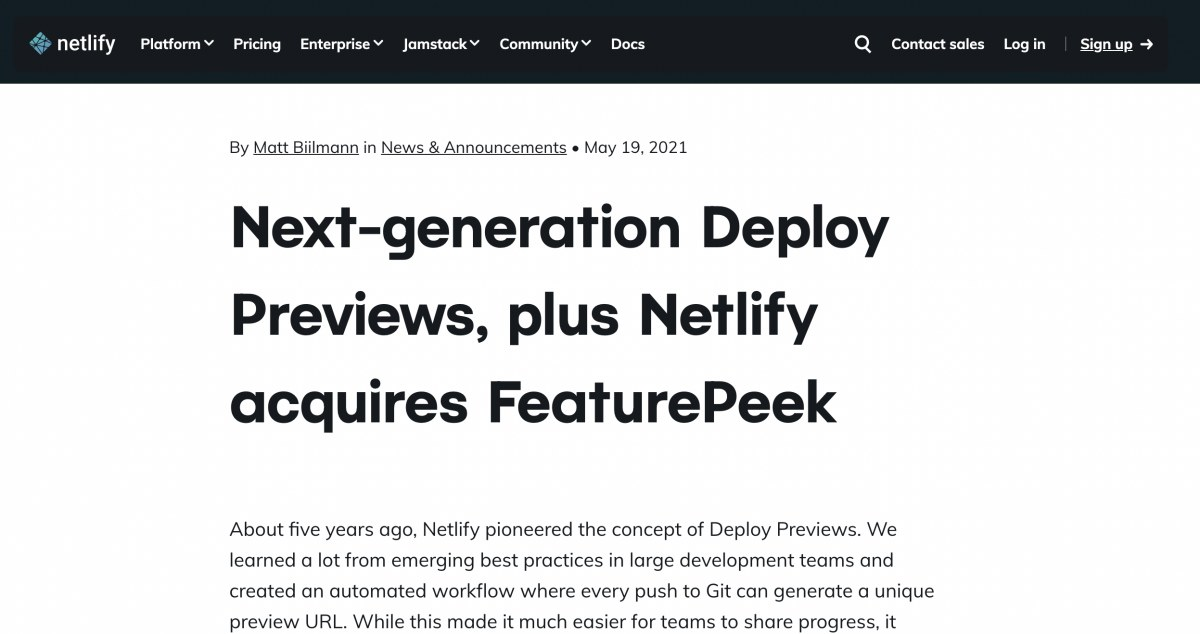 出典:https://www.netlify.com/blog/2021/05/19/next-generation-deploy-previews-plus-netlify-acquires-featurepeek/