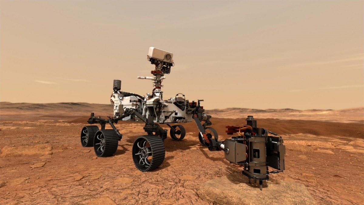 火星探査機「パーサヴィアランス」想像図NASA/JPL-Caltech