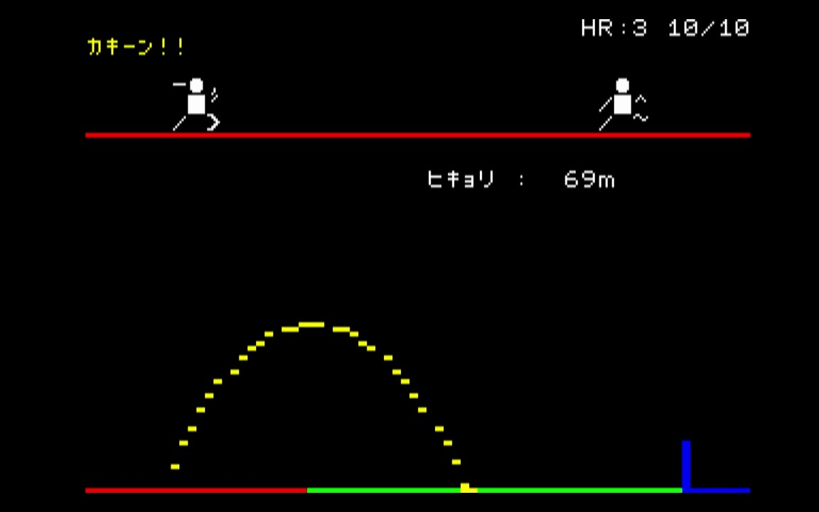 "PC-8001の画面例(<a href=""https://www.gamepres.org/2019/11/12/pcmini_pc80_program/"">ゲーム保存協会</a>)"